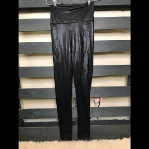 American apparel large leggings shiny metallic
